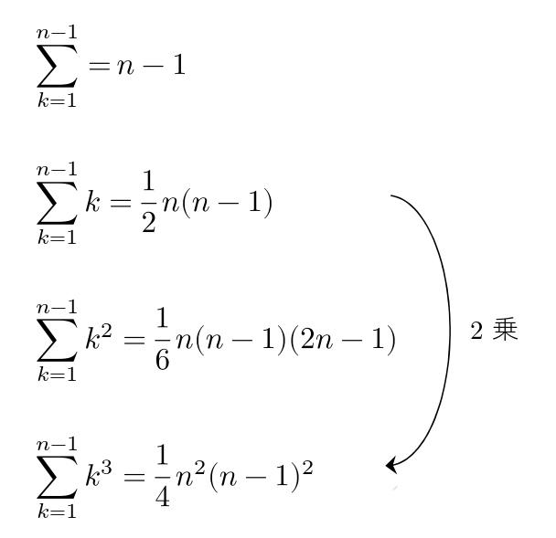Σの公式 シグマ n-1