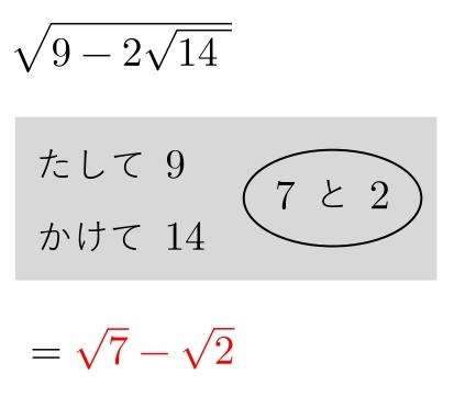 二重根号 解答(1)