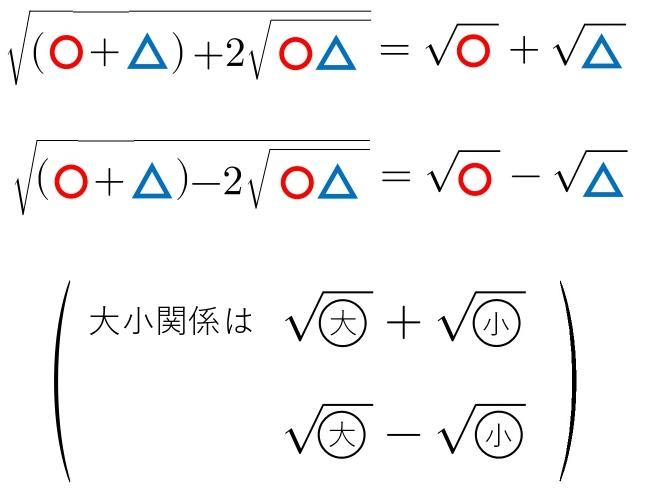 二重根号の公式