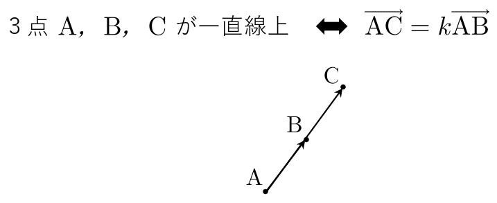 平面ベクトル 公式 一直線上